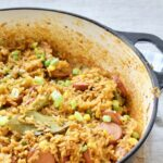 One Pot Smoked Sausage Jambalaya