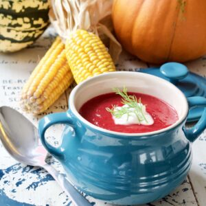 Instant Pot Ginger Spiced Beetroot Soup
