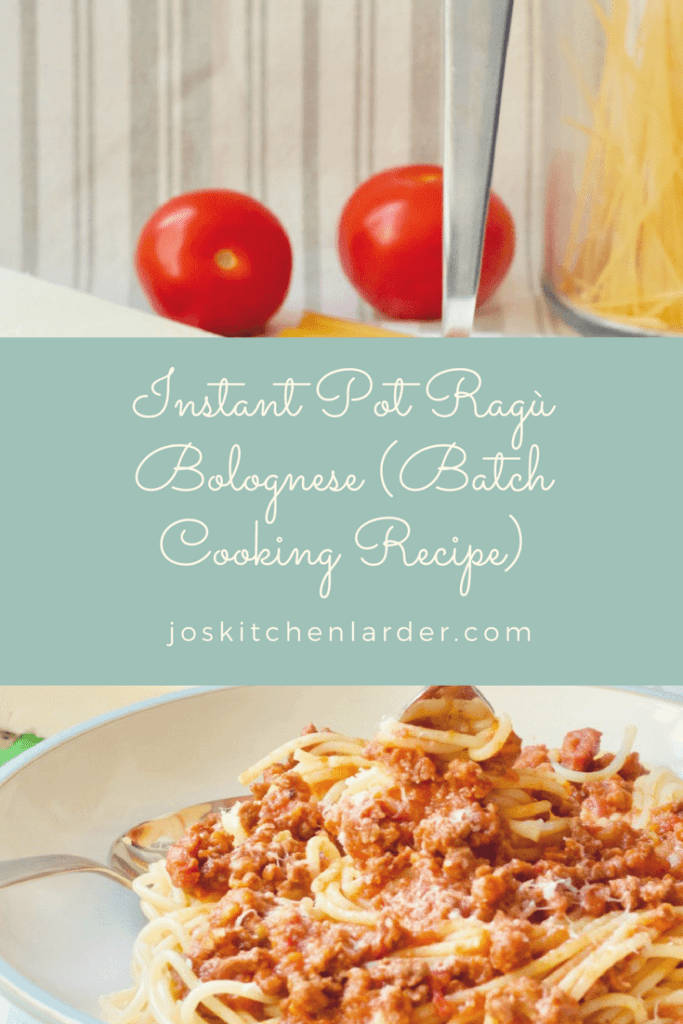 Instant Pot Ragù Bolognese (Batch Cooking Recipe)