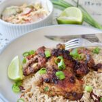 Cheat's Jerk Chicken with Rice & Peas (Beans)