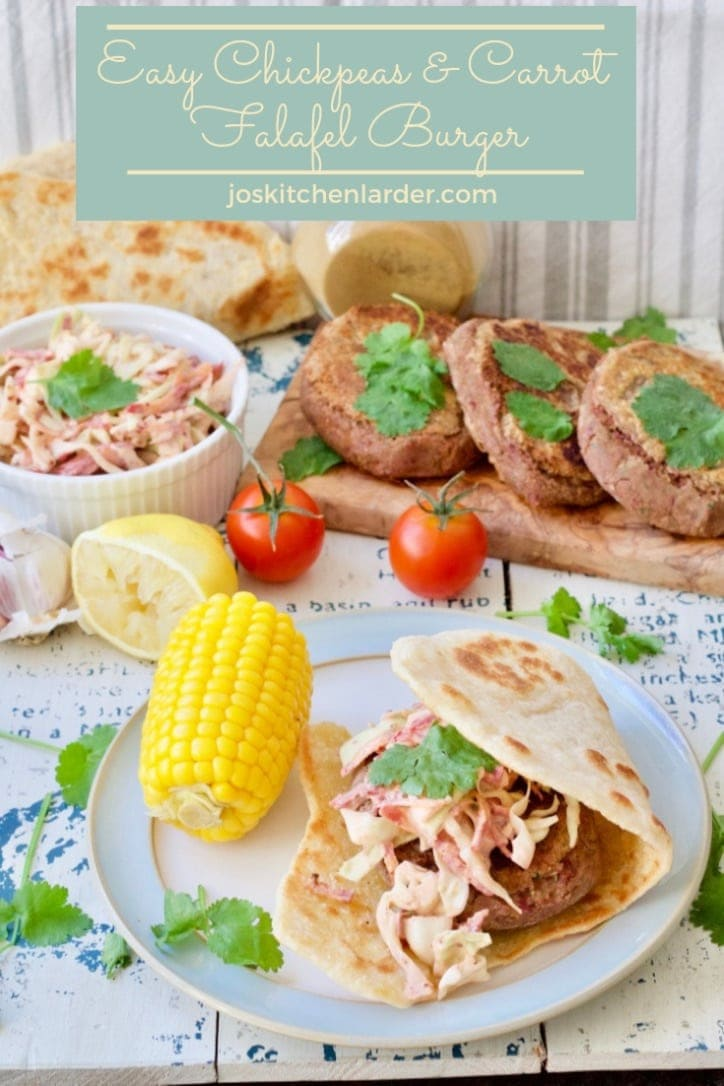 Easy Chickpeas & Carrot Falafel Burgers