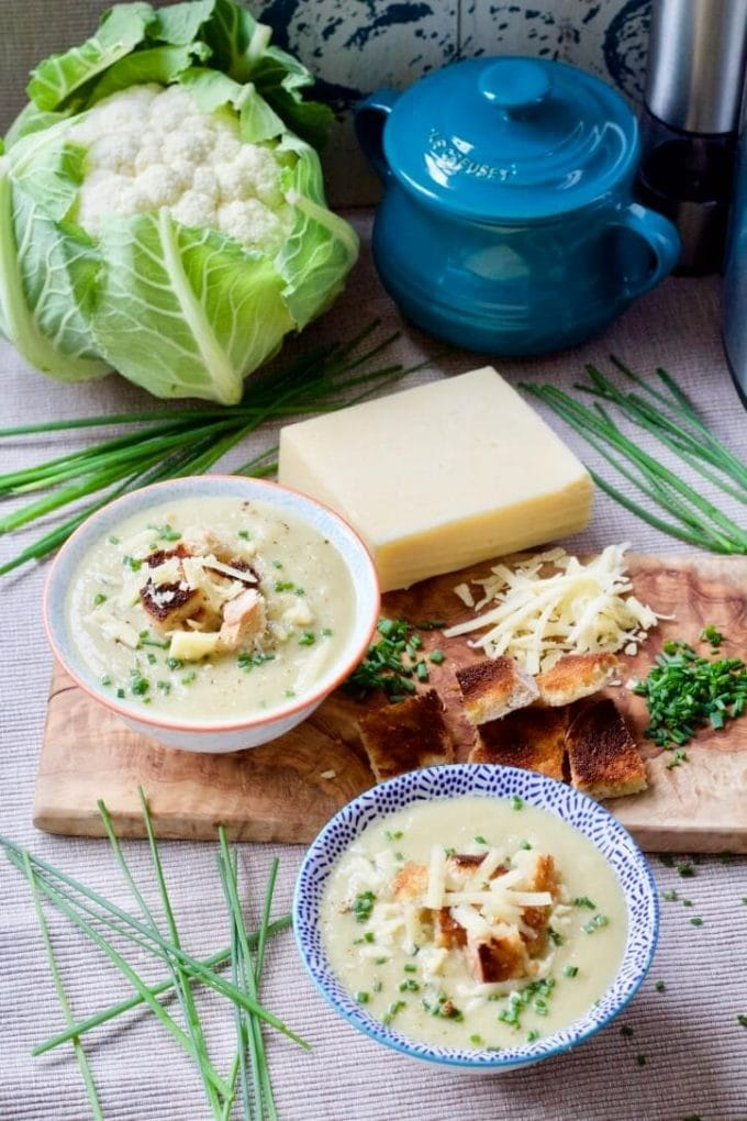 Instant Pot Creamy Cauliflower Cheese Soup