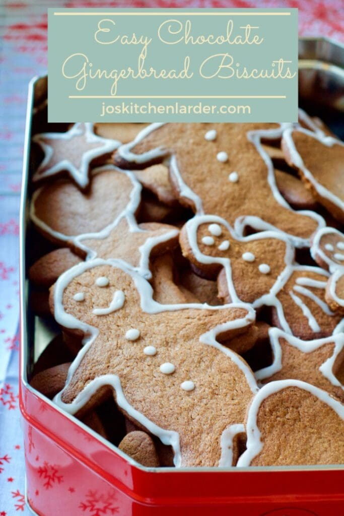 Easy Chocolate Gingerbread Biscuits