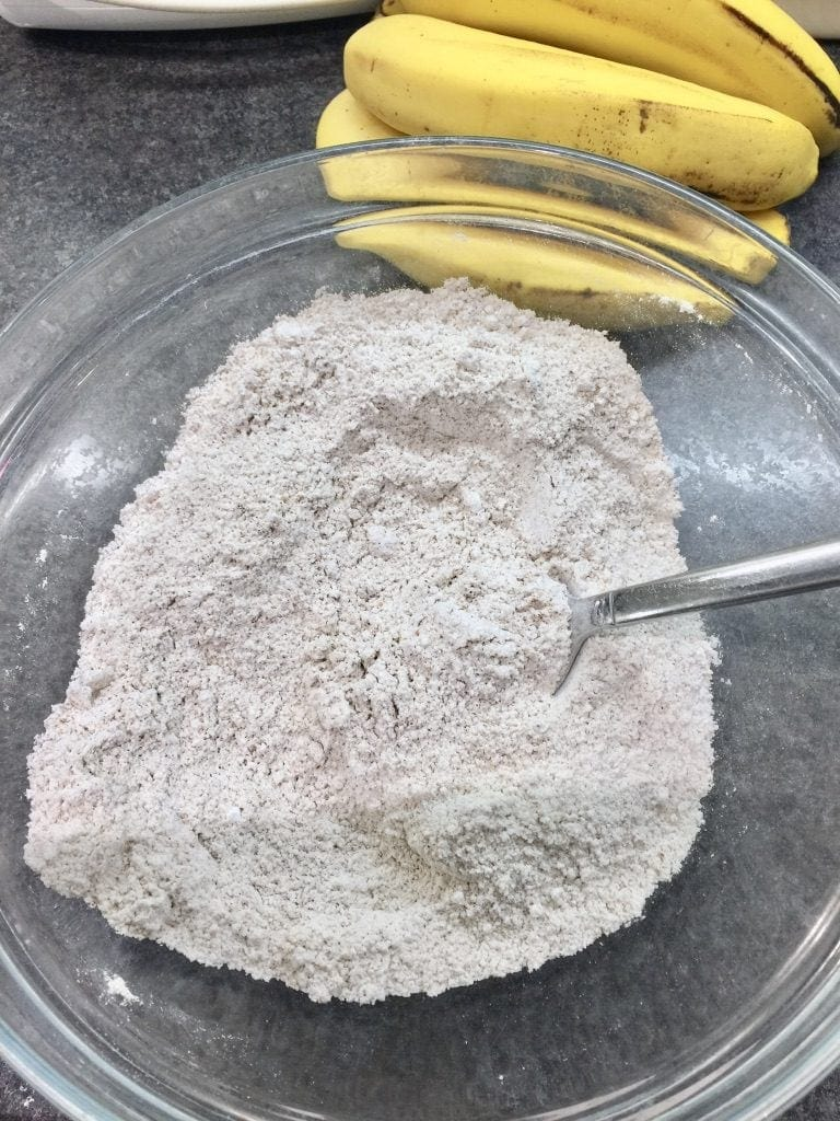Dry ingredients in a bowl.