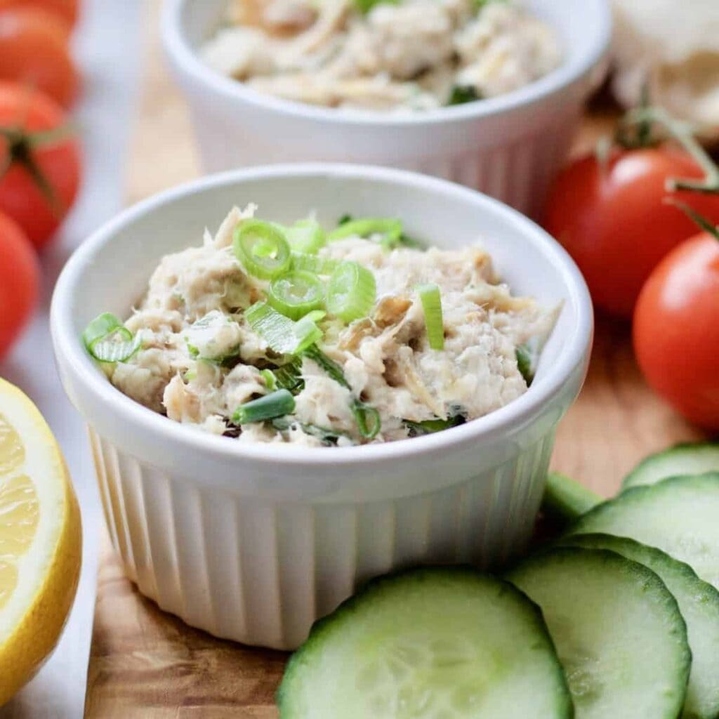 Smoked Mackerel Pate - close up in ramekin