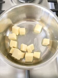 Easy Flatbread (No Yeast) - butter in a small saucepan on the hob