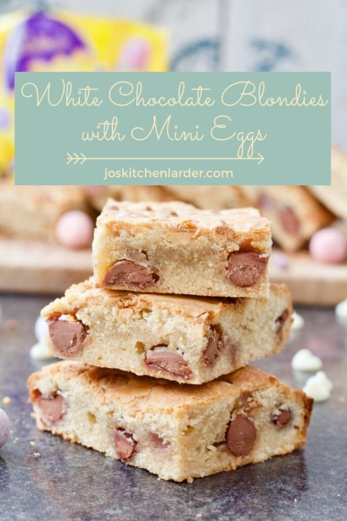 White Chocolate Blondies with Mini Eggs