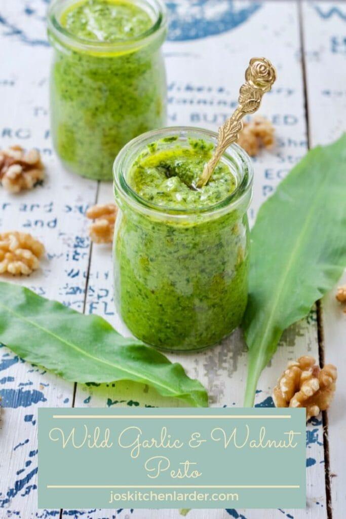 Wild Garlic & Walnut Pesto in a jar