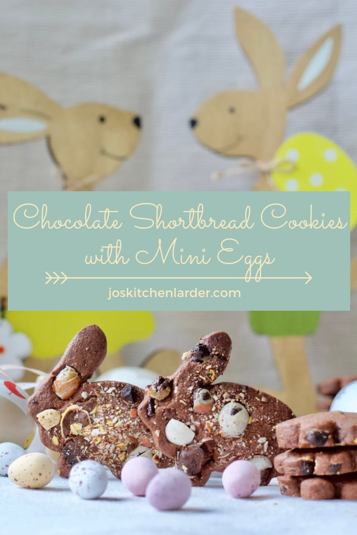 Chocolate Shortbread Cookies with Mini Eggs