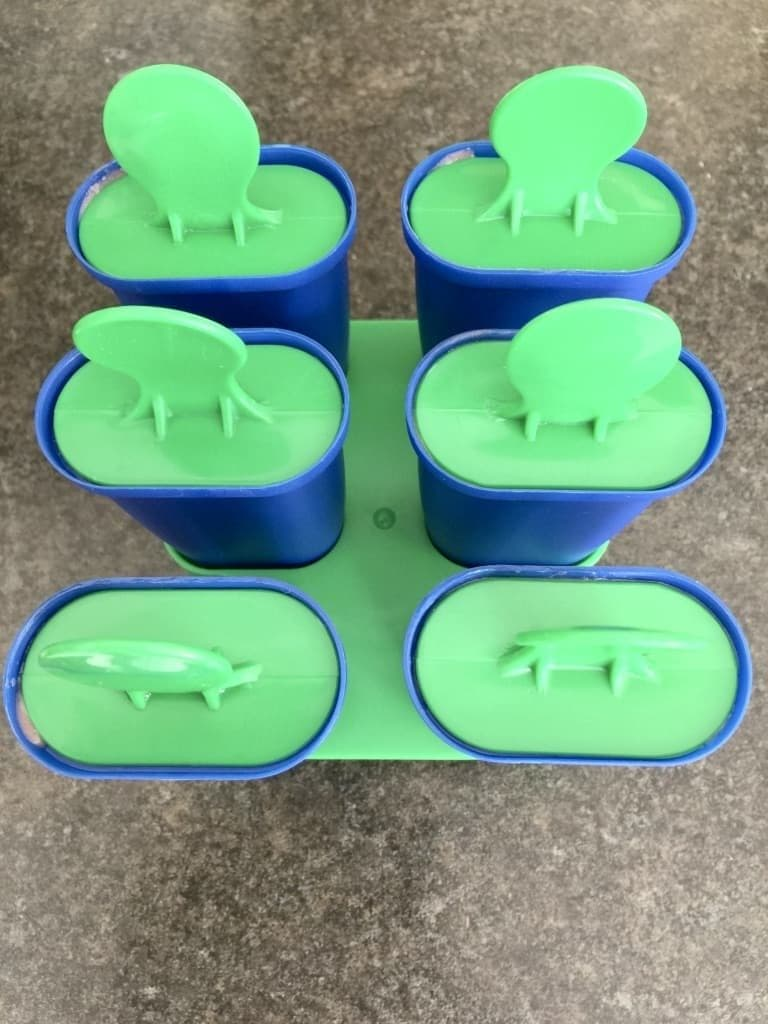 Closed ice lollies moulds.