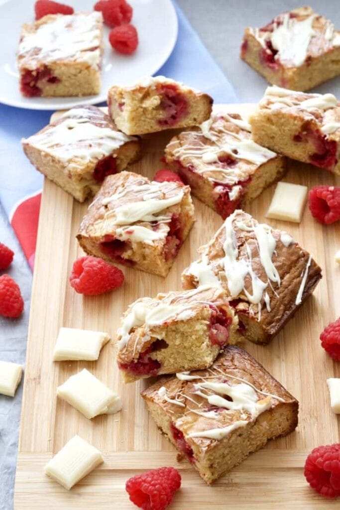 Blondies squares on a board.