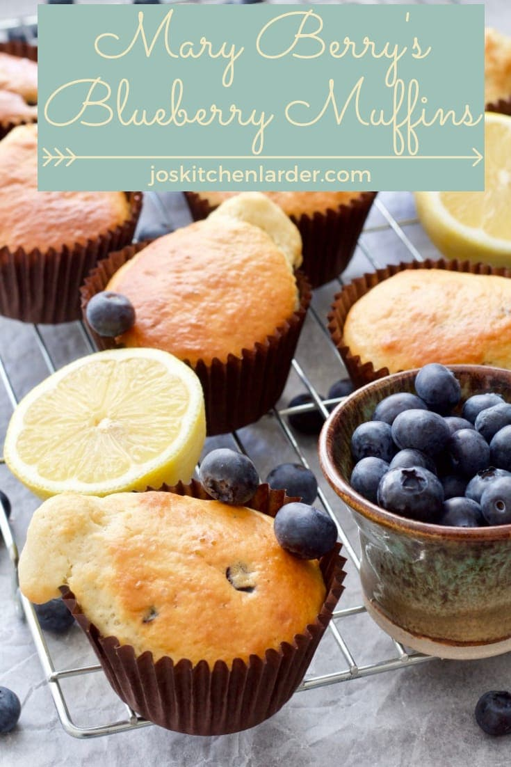 Mary Berry\'s recipe for Blueberry Muffins is my personal favourite. Quick & easy to make they are not overly sweet and perfect for lazy weekend breakfast, as a snack or just because! They are the best slightly warm with cup of milky coffee. Heaven! #maryberry #blueberrymuffins #breakfastmuffins #easyrecipe