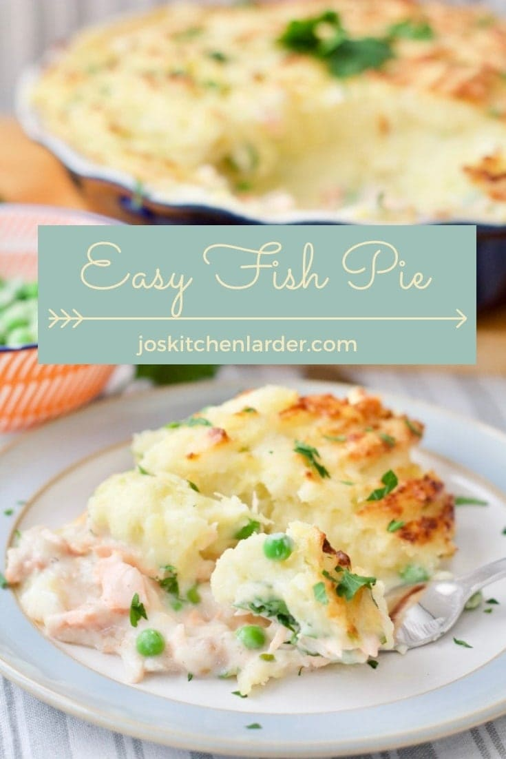 My Easy Fish Pie is a firm family favourite! Creamy, delicious & loved by kids & adults alike it\'s a proper comfort food classic. Great for batch cooking and freezer friendly this recipe will become your fish dinner staple. #fishpie #comfortfood #freezerfriendly #batchcooking #mealprep