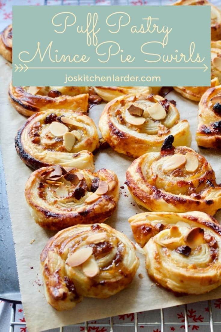 Puff Pastry Mince Pie Swirls