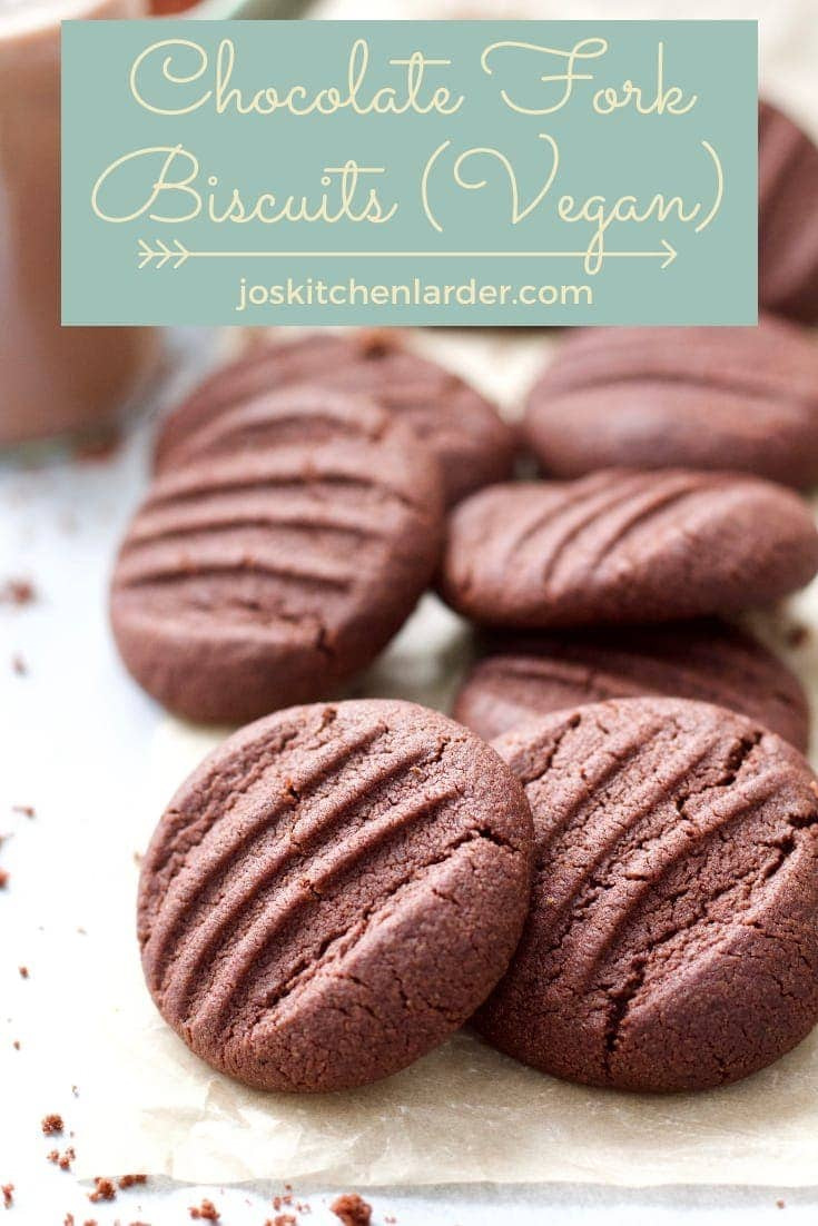 Chocolate Fork Biscuits (Vegan)