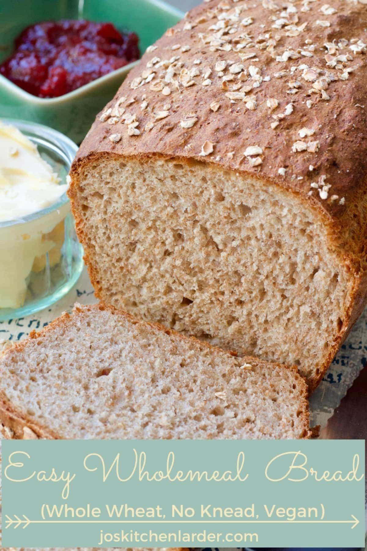 Easy Wholemeal Bread Recipe (No Knead)