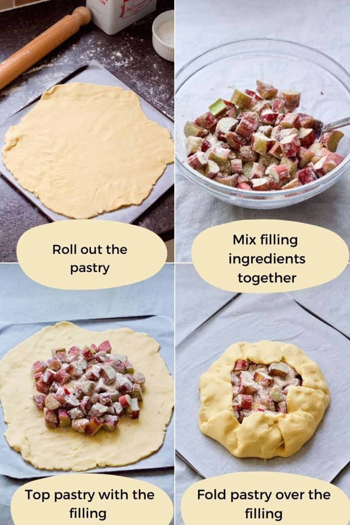 Assembly process for making galette.