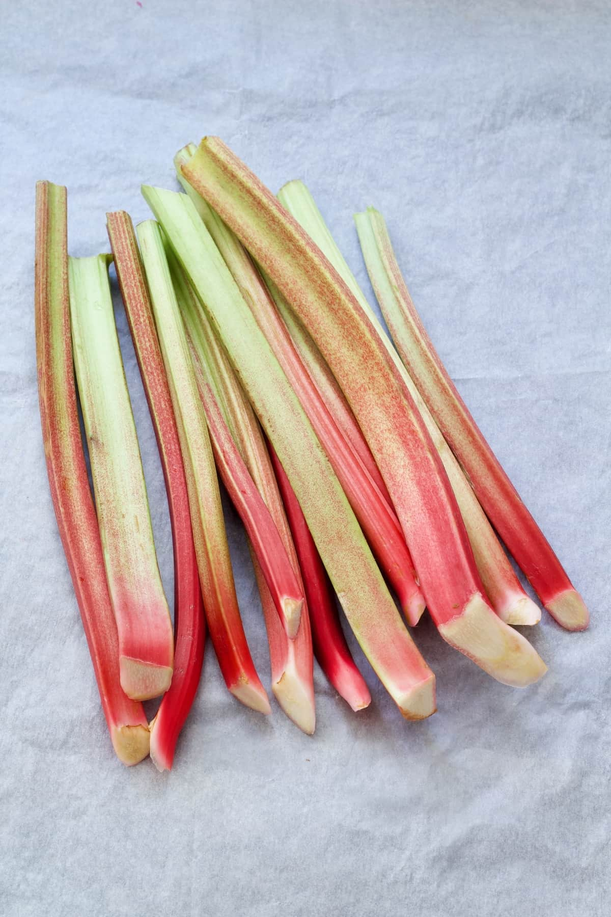 Bunch of rhubarb stalks.