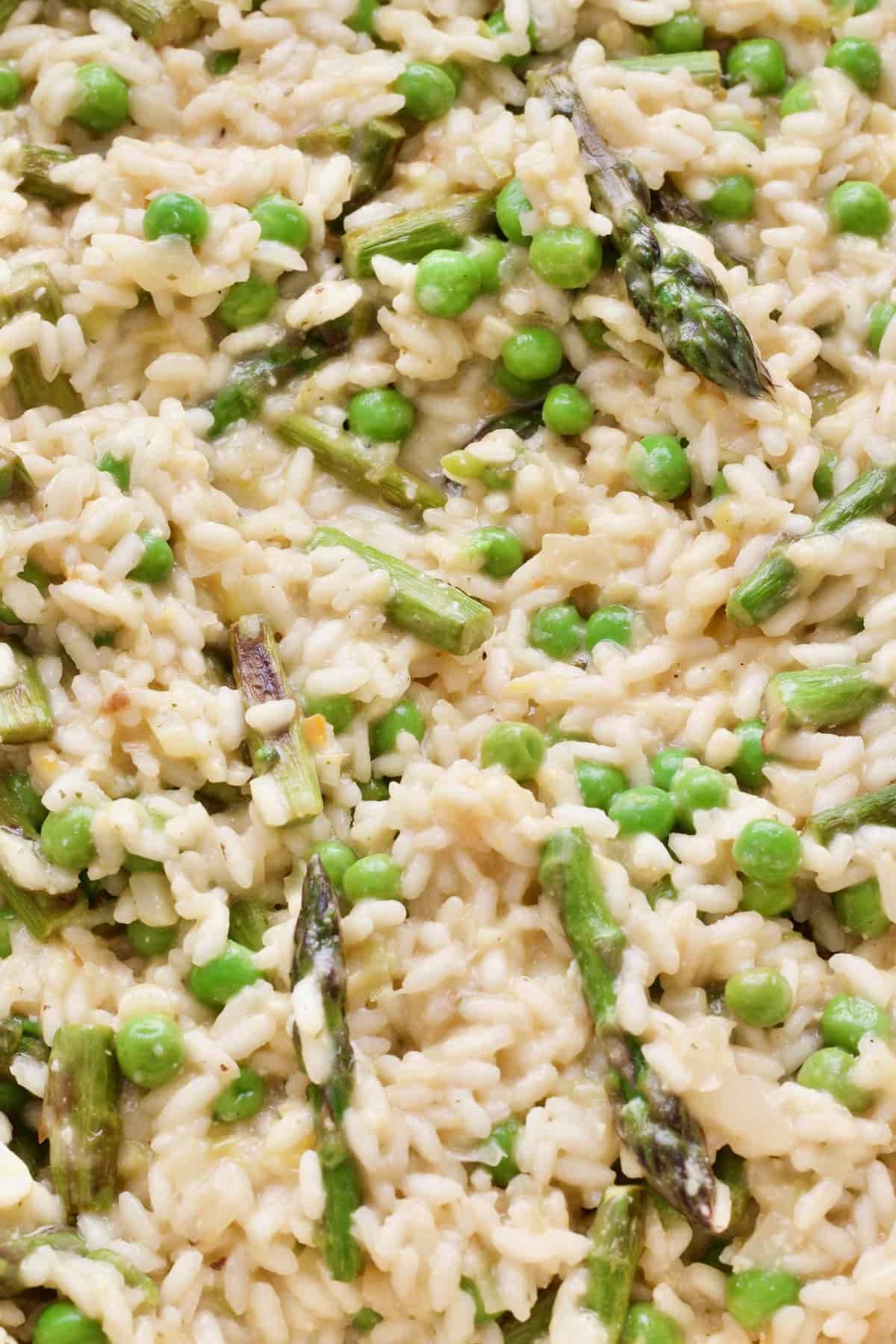 Close up of creamy risotto.